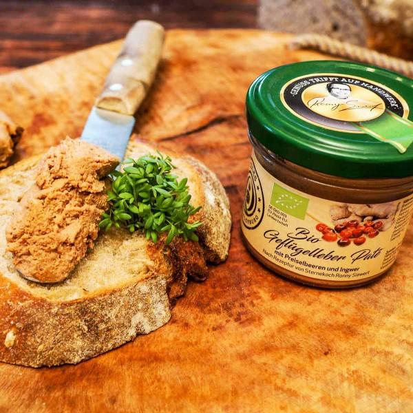 Bio Geflügelleber-Paté mit Preiselbeeren & Ingwer