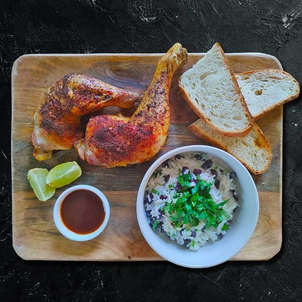 Bio-Haehnchenkeulen-mit-Jamaikanischem-Reis