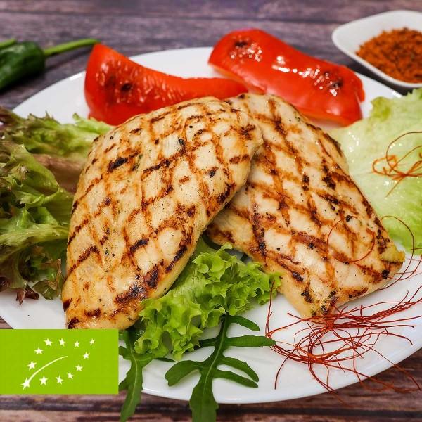 Bio Hähnchenbrust-Steaks in Marinade Chilli-Safran