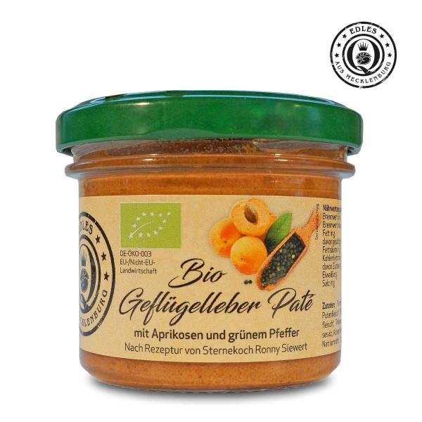 Bio-Geflügelleber-Paté mit Aprikose & grünem Pfeffer